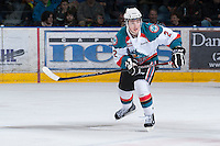 KELOWNA, CANADA - JANUARY 26: Jesse Lees #2 of the Kelowna Rockets skates on the ice against the Prince Albert Raiders at the Kelowna Rockets on January 26, 2013 at Prospera Place in Kelowna, British Columbia, Canada (Photo by Marissa Baecker/Shoot the Breeze) *** Local Caption ***