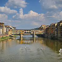 FLORENCE, ITALY - June 3, 2013 : View of the Ponte Vecchio in Florence