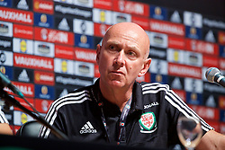 DINARD, FRANCE - Sunday, July 3, 2016: Wales' head of pubic affairs Ian Gwyn Hughes during a press conference at their base in Dinard as they prepare for the Semi-Final match against Portugal during the UEFA Euro 2016 Championship. (Pic by David Rawcliffe/Propaganda)