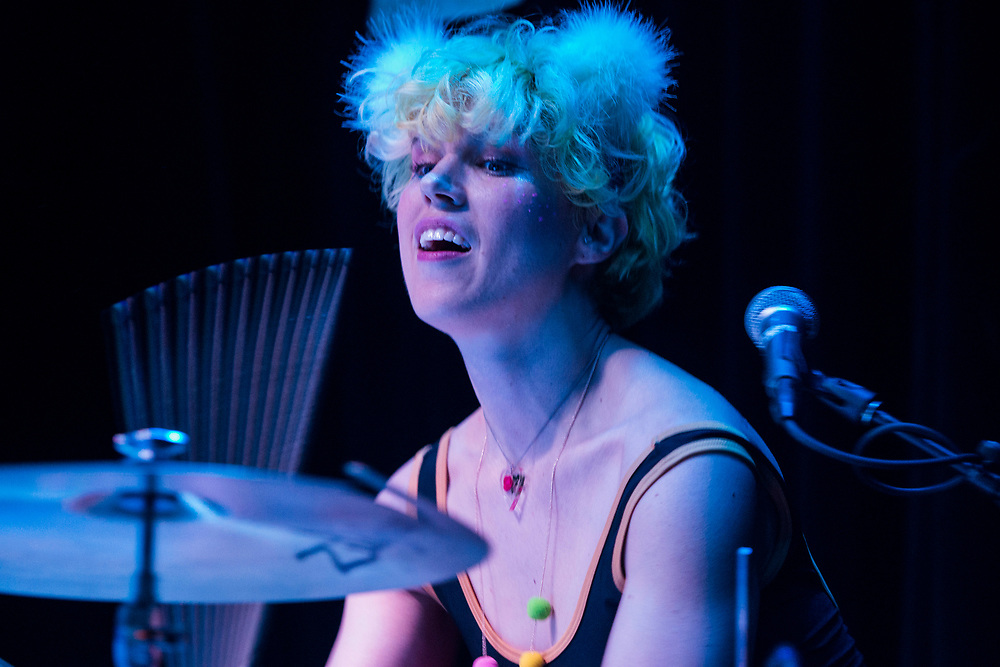 Leah Maupin of Tacocat performing at the Constellation Room in Santa Ana, CA, April 19, 2017