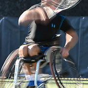 during Wheelchair Masters tennis at , Mission Viejo, California, USA on November 03, 2016. Photo: Bill Baum
