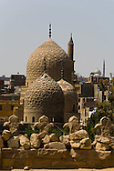 Egypt. Cairo - mosque mausoleum of Ibn Barquq in the northern cemetery  Cairo +