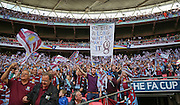 aston villa fans during the The FA Cup match between Arsenal and Aston Villa at Wembley Stadium, London, England on 30 May 2015. Photo by Phil Duncan.