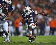 Auburn running back Onterio McCalebb (23) runs at Jordan-Hare Stadium in Auburn, Ala. on Saturday, October 29, 2011. .