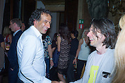 MARK WADHWA; JEREMY DELLER, , Okwui Enwezor and Vinyl Facorty hosted party at Ca'Sagredo, Campo Santa Sofia Venice Biennale, Venice. 5 May 2015