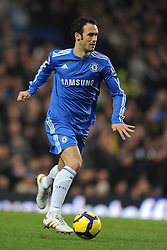 LONDON, ENGLAND - Sunday, February 7, 2010: Chelsea's Ricardo Carvalho during the Premiership match at Stamford Bridge. (Photo by Chris Brunskill/Propaganda)