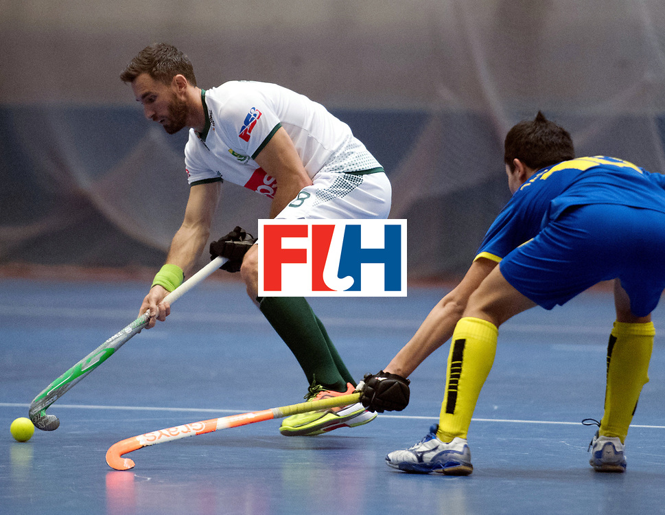 BERLIN - Indoor Hockey World Cup<br /> Kazakhstan - South Africa<br /> foto: Wade Paton <br /> WORLDSPORTPICS COPYRIGHT FRANK UIJLENBROEK
