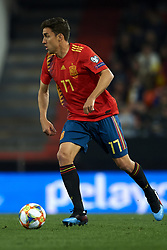 March 23, 2019 - Valencia, Valencia, Spain - Jaime Mata of Spain controls the ball during the 2020 UEFA European Championships group F qualifying match between Spain and Norway at Estadi de Mestalla on March 23, 2019 in Valencia, Spain. (Credit Image: © Jose Breton/NurPhoto via ZUMA Press)