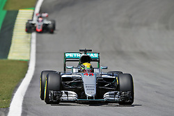 Lewis Hamilton (GBR) Mercedes AMG F1 W07 Hybrid.<br /> 11.11.2016. Formula 1 World Championship, Rd 20, Brazilian Grand Prix, Sao Paulo, Brazil, Practice Day.<br /> Copyright: Moy / XPB Images / action press