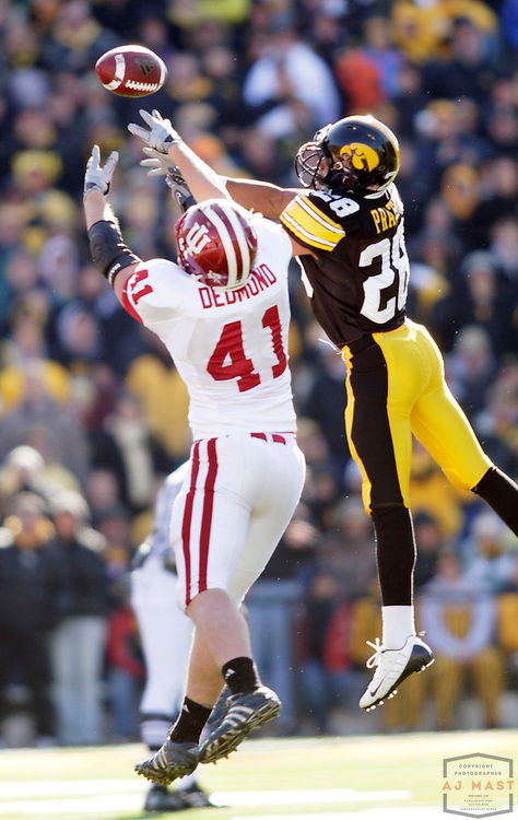 31 October 2009: Indiana tight end Max Dedmond (41)  as the Iowa Hawkeyes played the Indiana Hoosiers in a college football game in Iowa City, Iowa.