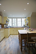 The Elliotts' kitchen, Pickwell Manor, Georgeham, North Devon, UK.<br /> CREDIT: Vanessa Berberian for The Wall Street Journal<br /> HOUSESHARE