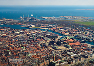An aerial photo of the Danish city of Copenhagen on a sunny day. The palace of Christianborg (parliament) and Copenhagen Opera House are clearly visible. © Copenhagen Photographer Matthew James