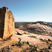 Texas Hill Country views at Enchanted Rock State Park, Texas.