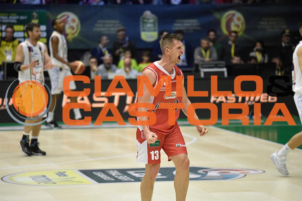Kaukenas<br /> Grissin Bon Pallacanestro Reggio Emilia - Betaland Capo d Orlando<br /> Poste Mobile Final Eight F8 2017 <br /> Lega Basket 2016/2017<br /> Rimini, 16/02/2017<br /> Foto Ciamillo-Castoria/