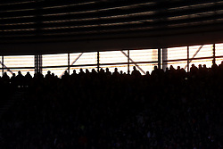 Sun sets inside the St Mary's Stadium  - Photo mandatory by-line: Alex James/JMP - Mobile: 07966 386802 - 20/12/2014 - SPORT - Football - Southampton  - St Mary's Stadium - Southampton  v Everton - Football