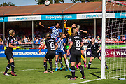 Ann-Katrin Berger (GK) (Chelsea) reaching to save the ball during the FA Women's Super League match between Brighton and Hove Albion Women and Chelsea at The People's Pension Stadium, Crawley, England on 15 September 2019.
