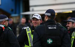 Police outside the stadium before kick off - Mandatory by-line: Arron Gent/JMP - 05/10/2019 - FOOTBALL - The Den - London, England - Millwall v Leeds United - Sky Bet Championship