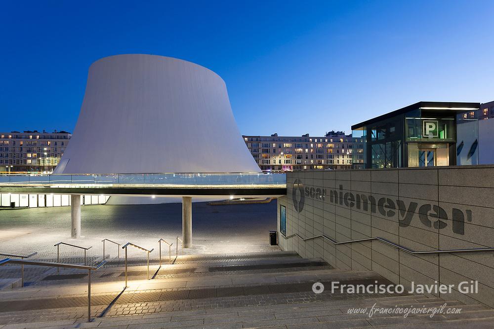 Cultural Center by Oscar Niemeyer, Le Havre, Seine-Maritime department, France