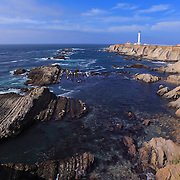 Point Arena Lighthouse And Rocky Shoreline