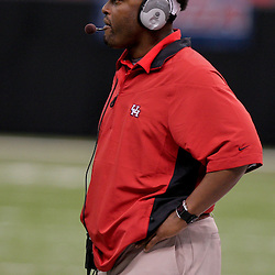 Oct 17, 2009; New Orleans, LA, USA; Houston Cougars head coach Kevin Sumlin on the field during the second half against the Tulane Green Wave at the Louisiana Superdome. Houston defeated Tulane 44-16. Mandatory Credit: Derick E. Hingle-US PRESSWIRE