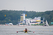 Poznan, POLAND, 21st June 2019, Friday, Morning Heats, USA LM2X (b)TROJAN Nicholas and (s)CAMPBELL JR Andrew,   FISA World Rowing Cup II, Malta Lake Course, © Peter SPURRIER/Intersport Images,<br /> <br /> 12:49:55