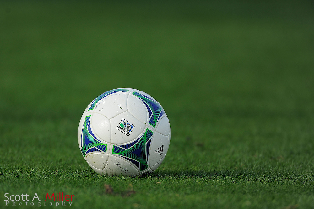 MLS logo soccer ball during the Disney Pro Soccer Classic on Feb 9, 2013  in Lake Beuna Vista, Florida. ..©2013 Scott A. Miller