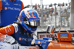 April 13, 2018 - Long Beach, California, United States of America - April 13, 2018 - Long Beach, California, USA: Scott Dixon (9) takes off the steering wheel and climbs out of the cockpit of his vehicle on pit road during practice for the Toyota Grand Prix of Long Beach at Streets of Long Beach in Long Beach, California. (Credit Image: © Justin R. Noe Asp Inc/ASP via ZUMA Wire)