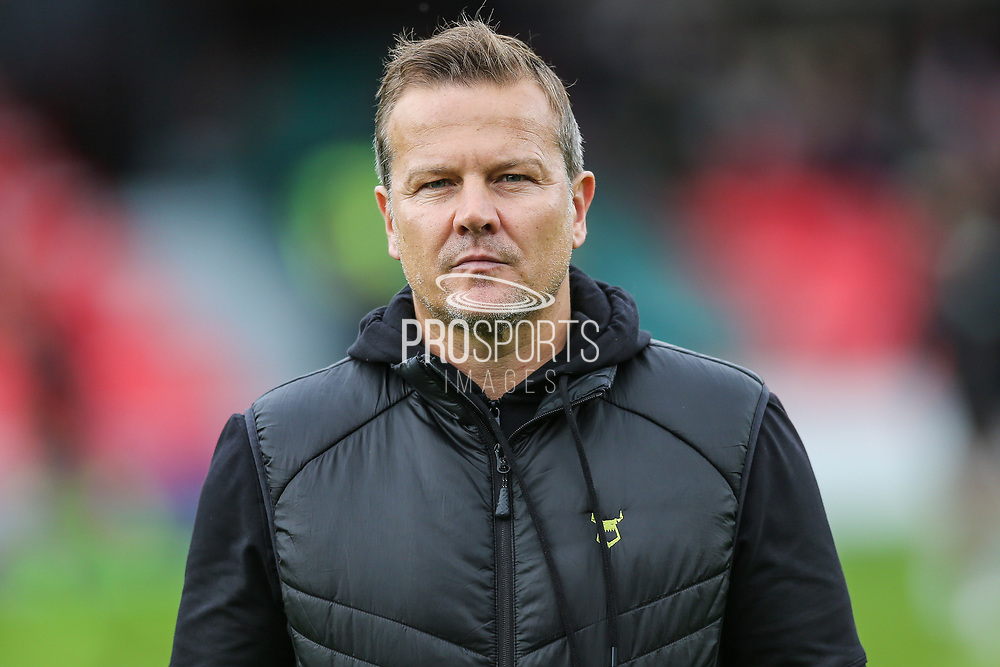 Forest Green Rovers manager, Mark Cooper during the EFL Sky Bet League 2 match between Salford City and Forest Green Rovers at Moor Lane, Salford, United Kingdom on 28 September 2019.