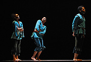 """Dancers rehearse """"Jubo"""" before its world premiere during the 60th Anniversary season of the Alvin Ailey American Dance Theater at New York City Center in New York City, New York on December 21, 2018."""