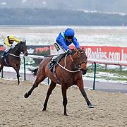 Broxbourne and Joe Fanning winning the 2.30 race