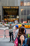 23-9-2018 NEW YORK anti trump prostests in front of the trump tower in New York  - ROBIN UTRECHT
