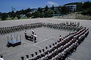 Hong Kong. last parade before closing military base Fort Stanley / Dernière parade militaire du bataillon ecossais - Blackwatch -  avant le retour en Angleterre et la fermeture de Fort Stanley.  / R00057/15    L940630  /  P0000327