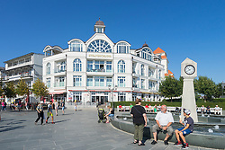 Main street in Binz seaside resort on Rugen Island in Germany