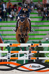 Roberto Teran Tafur, (COL), Woklahoma - Team & Individual Competition Jumping Speed - Alltech FEI World Equestrian Games™ 2014 - Normandy, France.<br /> © Hippo Foto Team - Leanjo De Koster<br /> 02-09-14