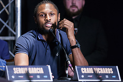 London, UK. 14th January, 2019. South London Super Middleweight Craig Richards speaks at the press conference for a Matchroom Boxing card at the 02 on 2nd February where he will fight Jake Ball in a 10 X 3 mins Light-Heavyweight contest.