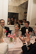LESLIE CARON;  Nicky Haslam hosts dinner at  Gigi's for Leslie Caron. 22 Woodstock St. London. W1C 2AR. 25 March 2015