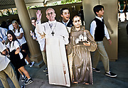 Antonino Vultaggio<br /> ///ADDITIONAL INFORMATION: s.JSerra &ndash; 9/30/15 &ndash; NICK AGRO, ORANGE COUNTY REGISTER-BACKGROUND:<br /> This is a Mass given by the Bishop at the local catholic school to<br /> commemorate the cannonization of Father Serra and the Pope's visit. Some of<br /> the kids form the school were able to travel to DC to watch the Mass live.