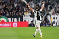 27.09.2017 - Torino - Champions League   -  Juventus-Olympiakos nella  foto: Gonzalo Higuain esulta dopo il gol dell ' 1 a 0