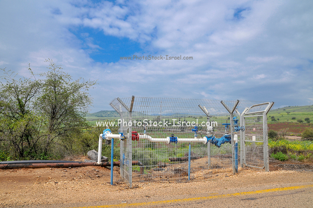 Treated waste water used for irrigation. Photographed in Israel