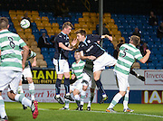 Matty Allan comes close for Dundee with a header -  Celtic v Dundee,  SPFL Development League at Cappielow<br /> <br />  - &copy; David Young - www.davidyoungphoto.co.uk - email: davidyoungphoto@gmail.com