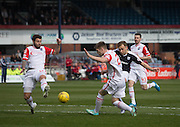 Dundee&rsquo;s Greg Stewart fires home the opener - Dundee v Ross County - Ladbrokes Premiership at Dens Park<br /> <br />  - &copy; David Young - www.davidyoungphoto.co.uk - email: davidyoungphoto@gmail.com