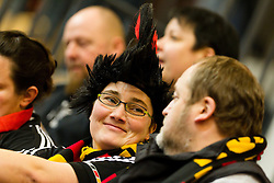 20.01.2011, Kristianstad Arena, SWE, IHF Handball Weltmeisterschaft 2011, Herren, Deutschland vs Tunesien, im Bild, // A german fan prior to the game // during the IHF 2011 World Men's Handball Championship match Germany vs Tunisia  at Kristianstad Arena, Sweden on 20/1/2011. EXPA Pictures © 2011, PhotoCredit: EXPA/ Skycam/ Henrik Johansson +++++ ATTENTION - OUT OF SWEDEN/SWE +++++