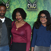 London, England, UK. 10th January 2018. Adrian Lester and family arrives at Cirque du Soleil OVO - UK premiere at Royal Albert Hall.