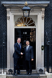 © Licensed to London News Pictures. 16/10/2012. LONDON, UK. The British Prime Minister David Cameron meets the Mexican President Elect Enrique Peña Nietoon Downing Street in London today (16/10/2012) . Photo credit: Matt Cetti-Roberts/LNP