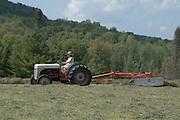 VT farmer haying