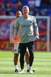 April 21, 2018 - Harrison, NJ, U.S. - HARRISON, NJ - APRIL 21:  Chicago Fire midfielder Bastian Schweinsteiger (31) warms up prior to the first half of the Major League Soccer Game between the New York Red Bulls and the Chicago Fire on April 21, 2018, at Red Bull Arena in Harrison, NJ.   (Photo by Rich Graessle/Icon Sportswire) (Credit Image: © Rich Graessle/Icon SMI via ZUMA Press)