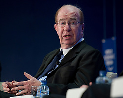 Lord Levene, chairman of Lloyd's, United Kingdom, speaks during the World Economic Forum in Brussels, Monday May 10, 2010. (Photo © Jock Fistick)