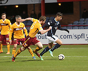 Dundee's Luka Tankulic goes past Motherwell's Mark O'Brien -  Dundee v Motherwell, SPFL Premiership at Dens Park <br /> <br /> <br />  - &copy; David Young - www.davidyoungphoto.co.uk - email: davidyoungphoto@gmail.com
