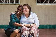 VSO ICS team leaders Sedalia Kyakajumba and Melita Isaya cohort organisers of the VSO / ICS Elimu Fursa project (Opportunities in Education) Lindi, Lindi region. Tanzania.