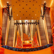 Photos taken for GKD Metal Fabrics of their installed metal work at Helzberg Hall in the Kauffman Center for the Performing Arts in Kansas City, Missouri.